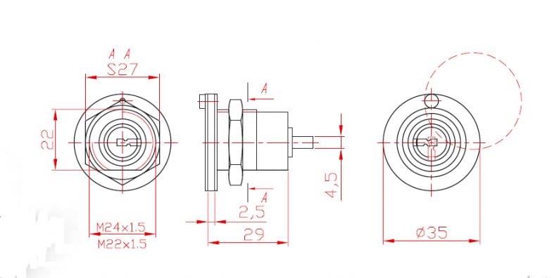 Broască într-un punct cu cilindru L 29
