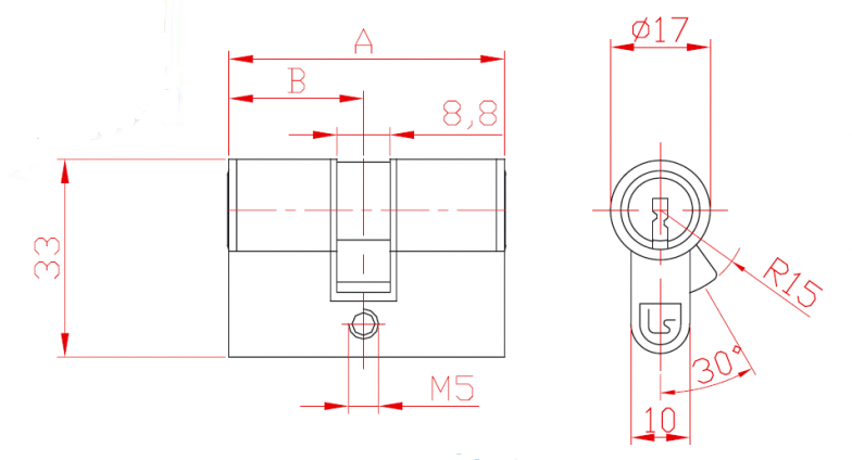 Broască în  două puncte cu cilindru L 21